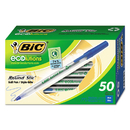 Bic GSME509BE Ecolutions Round Stic Ballpoint Pen, Blue Ink, 1mm, Medium, 50/Pack