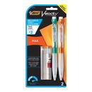 BIC MPMX9P21 Velocity Max Pencil, 0.9 mm, HB (#2), Black Lead, Assorted Barrel Colors, 2/Pack