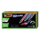 BIC RGLCG11AST Gel-ocity Quick Dry Retractable Gel Pen, 0.7mm, Assorted Ink/Barrel, Dozen