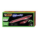 BIC RGLCG11-RD Gel-ocity Quick Dry Retractable Gel Pen, Fine 0.7mm, Red Ink/Barrel, Dozen