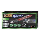 BIC RGU11AST Gel-ocity Ultra Retractable Gel Pen, Medium 0.7mm, Assorted Ink/Barrel, Dozen