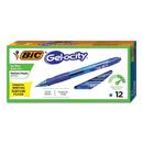 BIC CORPORATION BICRLC11BE Gel-Ocity Retractable Gel Pen, Blue Ink, .7mm, Medium, Dozen