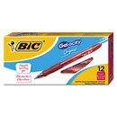 BIC CORPORATION BICRLC11RD Gel-Ocity Retractable Gel Pen, Red Ink, .7mm, Medium, Dozen
