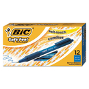 Bic BICSCSM11BE Soft Feel Retractable Ballpoint Pen, Blue Ink, 1mm, Medium, Dozen