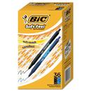 Bic BICSCSM361AST Soft Feel Retractable Ballpoint Pen, Black/blue, 1mm, Medium, 36/pack