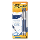Bic VCGRP21-BLU Atlantis Air Retractable Ballpoint Pen, Blue, 2/Pack