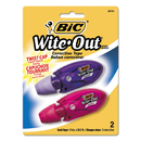 Bic BICWOMTP21 Wite-Out Mini Twist Correction Tape, Non-Refillable, 1/5