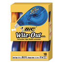 Bic BICWOTAP10 Wite-Out Ez Correct Correction Tape, Non-Refillable, 1/6