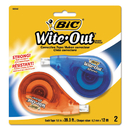 BIC CORPORATION BICWOTAPP21 Wite-Out Ez Correct Correction Tape, Non-Refillable, 1/6