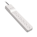 Belkin BLKBE10600004 Surge Protector, 6 Outlets, 4 Ft Cord, 720 Joules, White
