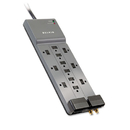 Belkin BLKBE11223008 Professional Series Surgemaster Surge Protector, 12 Outlets, 8 Ft Cord