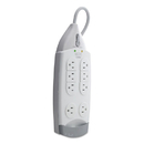 Belkin F9H710-06 SurgeMaster Home Series Surge Protector, 7 Outlets, 6 ft Cord, 1045 J, White