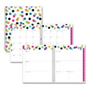 Blue Sky 100759 Ampersand Dots Academic Year Weekly/Monthly Planner, 11 x 8.5, Multicolor, 2020-2021