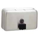 Bobrick BOB2112 Classicseries Surface-Mounted Liquid Soap Dispenser, Horizontal, 40 Oz, Metal