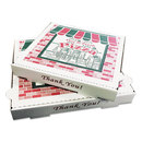 PIZZA Box BOXPZCORB18 Takeout Containers, 18in Pizza, White, 18w X 18d X 2 1/2h, 50/bundle