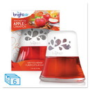 BRIGHT Air BRI 900022 Scented Oil Air Freshener, Macintosh Apple and Cinnamon, Red, 2.5 oz, 6/Carton