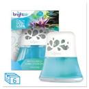 BRIGHT Air BRI 900115 Scented Oil Air Freshener, Calm Waters and Spa, Blue, 2.5 oz, 6/Carton