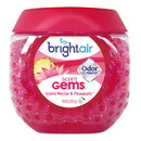 BRIGHT Air BRI 900229 Scent Gems Odor Eliminator, Island Nectar and Pineapple, Pink, 10 oz, 6/Carton