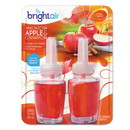 BRIGHT Air 900255EA Electric Scented Oil Air Freshener Refill, Macintosh Apple and Cinnamon, 2/Pack
