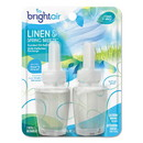 BRIGHT Air 900269PK Electric Scented Oil Air Freshener Refill, Linen & Spring Breeze, 0.67 oz Jar, 2/Pack