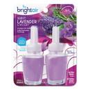 BRIGHT Air 900270 Electric Scented Oil Air Freshener Refill, Sweet Lavender/Violet, 0.67 oz Jar, 2/Pack , 6 Packs/Carton