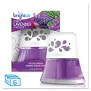 BRIGHT Air BRI900288 Scented Oil Air Freshener Sweet Lavender and Violet, 2.5 oz, 6/Carton