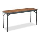 BARRICKS MANUFACTURING CO BRKCL1860WA Special Size Folding Table, Rectangular, 60w X 18d X 30h, Walnut/black