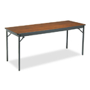 BARRICKS MANUFACTURING CO BRKCL2472WA Special Size Folding Table, Rectangular, 72w X 24d X 30h, Walnut/black