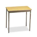 BARRICKS MANUFACTURING CO BRKUT183030LQ Utility Table, Rectangular, 30w X 18d X 30h, Oak/brown