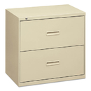 Basyx BSX432LL 400 Series Two-Drawer Lateral File, 30w X 19-1/4d X 28-3/8h, Putty