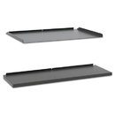 basyx BSXMGSHTRA1 Manage Series Shelf And Tray Kit, Steel, 17-1/2w X 9d X 1h, Ash
