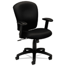 Basyx BSXVL220VA10 Vl220 Series Mid-Back Task Chair, Black