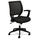 Basyx BSXVL521VA10 Vl521 Series Mid-Back Work Chair, Mesh Back, Fabric Seat, Black