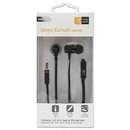Case Logic BTHCLSTHD800 800 Series Earbuds W/microphone, Black, 4 Ft Cord