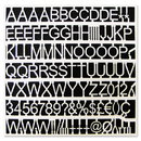 Mastervision BVCCAR1002 White Plastic Set Of Letters, Numbers & Symbols, Uppercase, 1