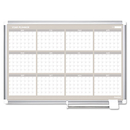 Mastervision BVCGA03106830 12 Month Year Planner, 36x24, Aluminum Frame