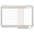 Mastervision BVCGA0397830 Monthly Planner, 36x24, Silver Frame