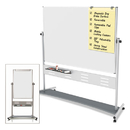 Mastervision BVCQR5507 Magnetic Reversible Mobile Easel, 70 4/5w X 47 1/5h, 80
