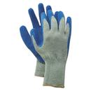 Boardwalk BWK00027L Rubber Palm Gloves, Gray/Blue, Large, 1 Dozen