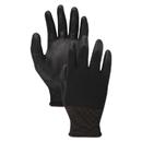 Boardwalk BWK000288 PU Palm Coated Gloves, Black, Size 8 (Medium), 1 Dozen