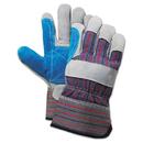 Boardwalk BWK00034 Cow Split Leather Double Palm Gloves, Gray/Blue, Large, 1 Dozen