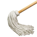 Boardwalk BWK112R Deck Mop w/51 in. Wooden Handle, 12 oz. Rayon Fiber Head, 6/Pack