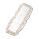 Boardwalk BWK1324 Industrial Dust Mop Head, Hygrade Cotton, 24w x 5d, White