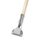 Boardwalk BWK1490 Clip-On Dust Mop Handle, Lacquered Wood, Swivel Head, 1