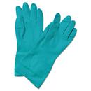 Boardwalk BWK183S Flock-Lined Nitrile Gloves, Small, Green, 1 Dozen