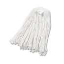Boardwalk BWK2020RCT Cut-End Wet Mop Head, Rayon, No. 20, White, 12/Carton
