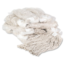 UNISAN BWK220CCT Premium Cut-End Wet Mop Heads, Cotton, 20oz, White, 12/carton