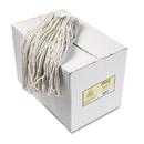 Boardwalk BWK224CCT Premium Cut-End Wet Mop Heads, Cotton, 24oz, White, 12/Carton