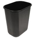 UNISAN BWK28QTWBBLA Soft-Sided Wastebasket, 28qt, Black