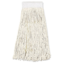 Boardwalk BWK324C Mop Head, Premium Saddleback Head, Cotton Fiber, 24oz, White, 12/Carton